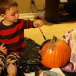 Pumpkin paintin'