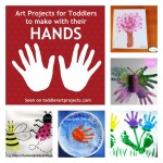{8} Art Projects for Toddlers to make with their hands… and feet!