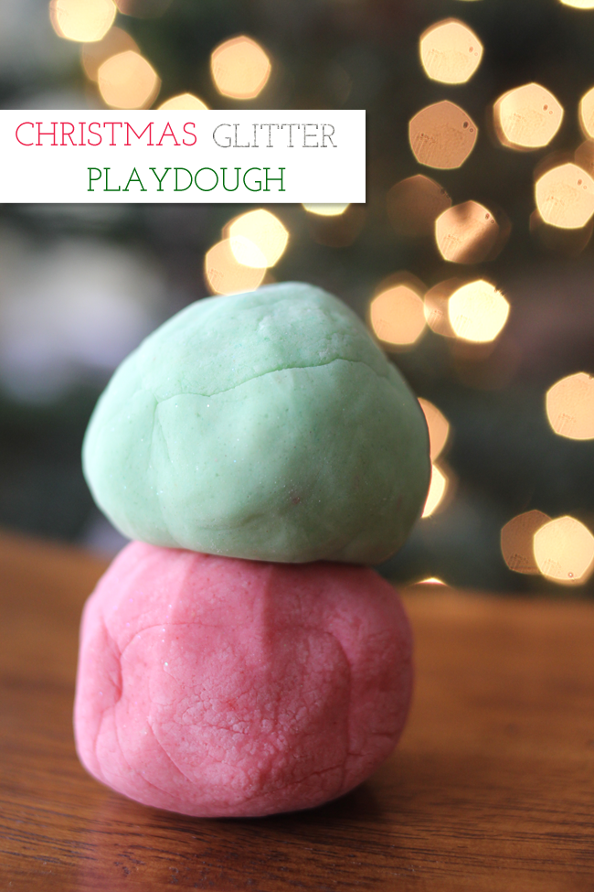 Christmas Glitter Playdough