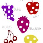 Free Fruit Do A Dot Printable