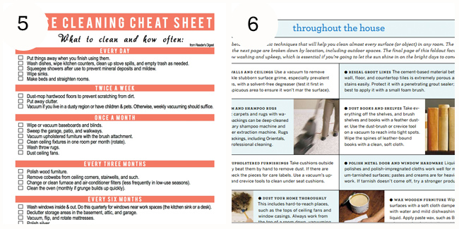 Spring Cleaning checklists!