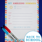 Back To School Printable {My Amazing Summer}