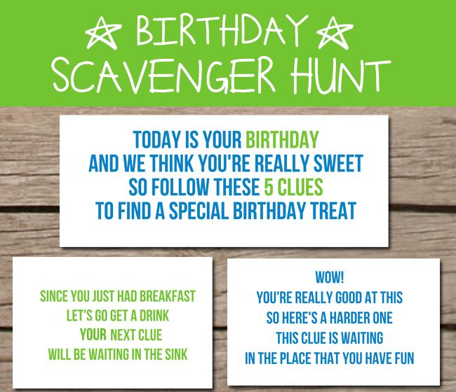 Adult Birthday Scavenger Hunt 4