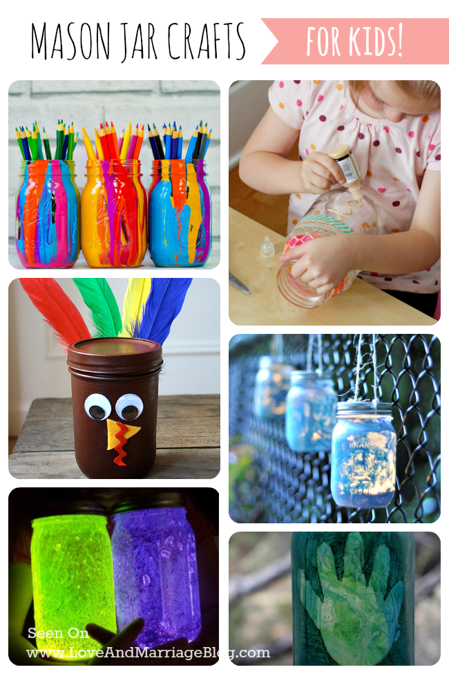 10 Mason Jar Crafts for Kids