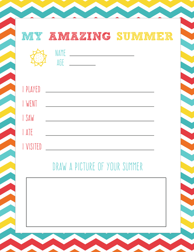 Back To School Printable {My Amazing Summer} - Love and Marriage