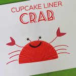 Cupcake Liner Crab Craft
