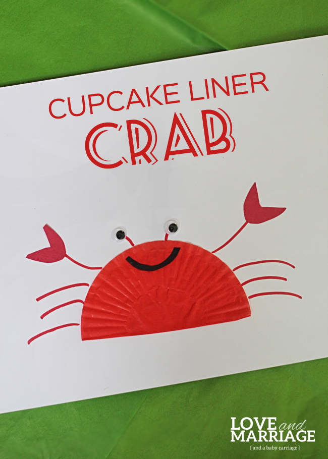 Cupcake Liner Crafts: Crab