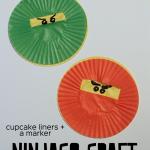 Super Easy Ninjago Cupcake Liner Craft
