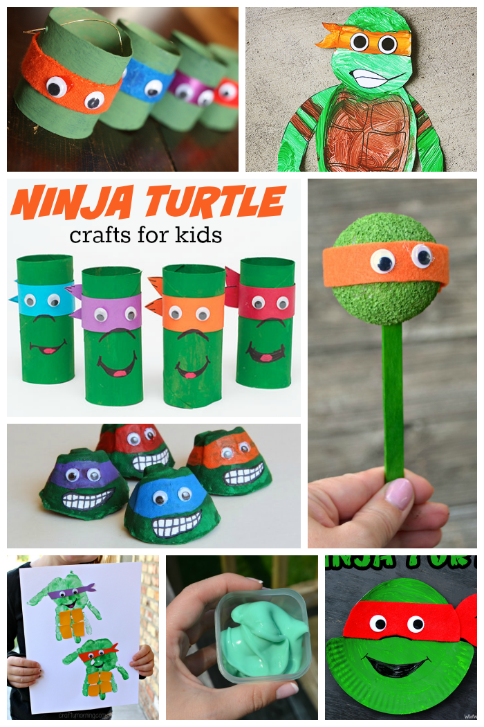 15 incredible ninja turtle crafts love and marriage for Boys arts and crafts