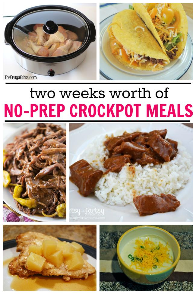 15 No-Prep Crockpot Meals