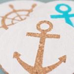Easy Nautical DIY Coasters