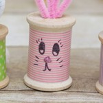 Easter Bunny Craft: Thread Spool Bunnies