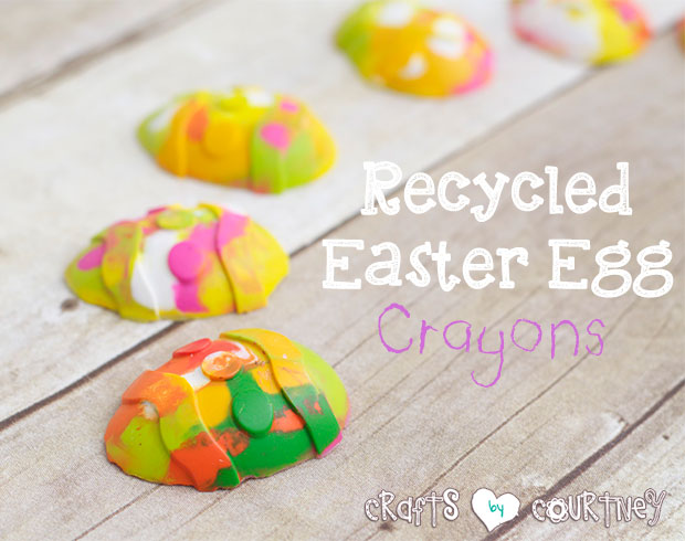 Recycled Easter Egg Crayons