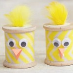 Spring Chick Craft from Thread Spools