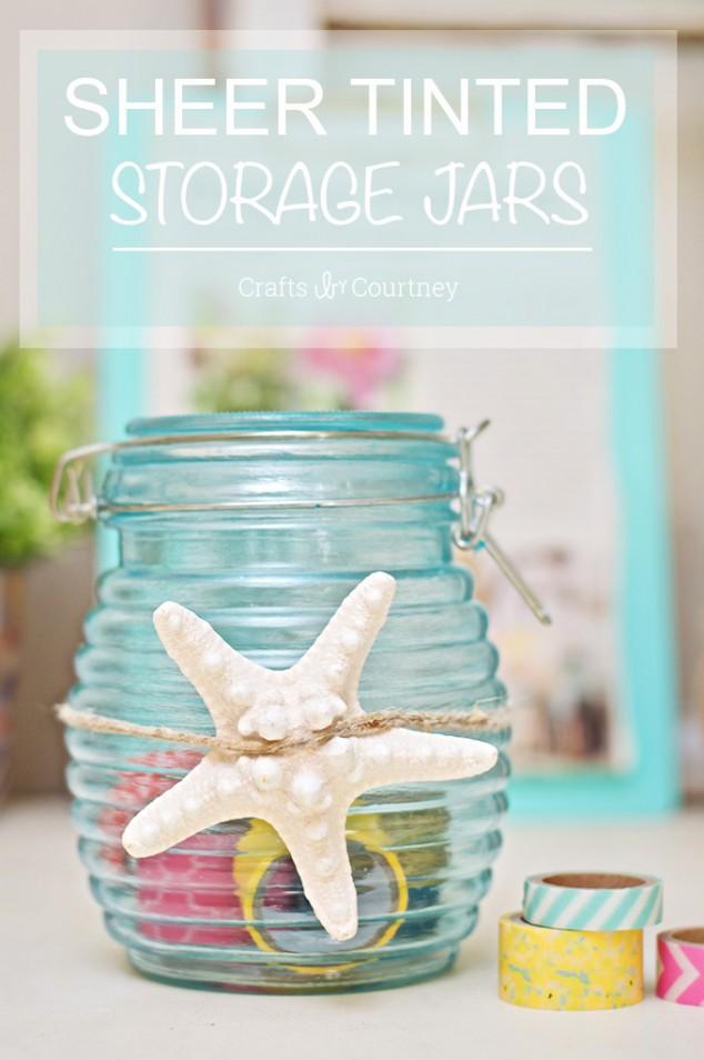 DIY sheer tinted storage jars