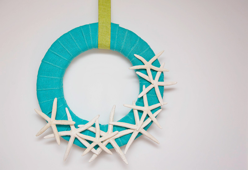 Coastal Living Inspired DIY Starfish Wreath