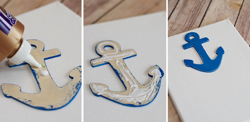 West Elm Inspired Nautical Anchor Art