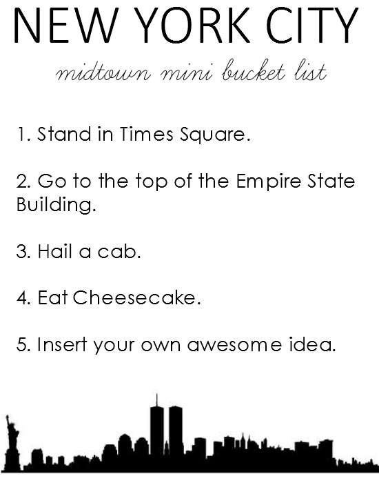 My Mini New York Bucket List