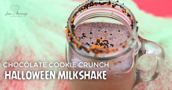 Chocolate Cookie Crunch Halloween Milkshake