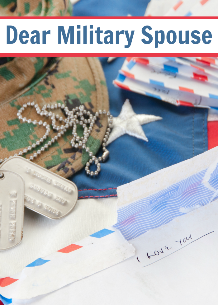 Dear Military Spouse: You are a Treasure