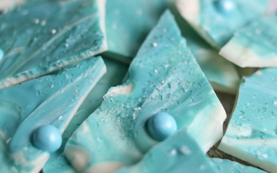 Frozen Elsa Chocolate Bark