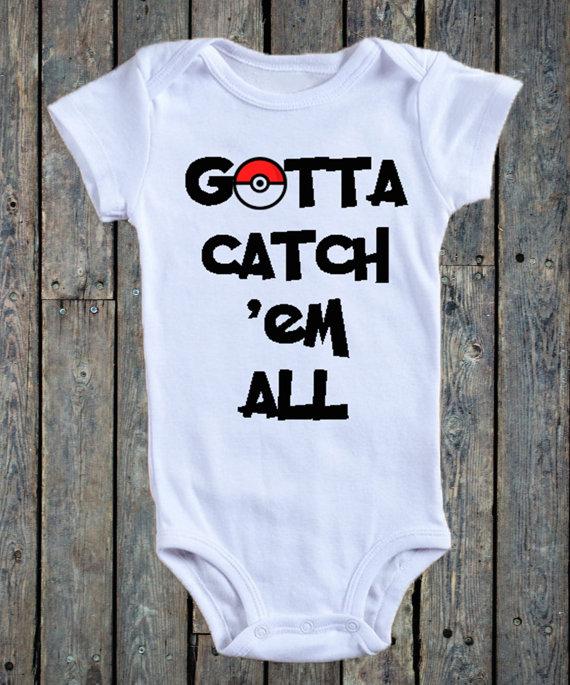 Gotta Catch Em All Pokemon Go Baby Onesie