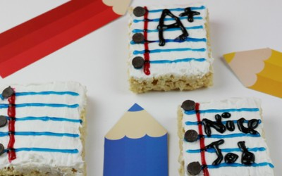 Notebook Rice Krispies - Back To School Snack