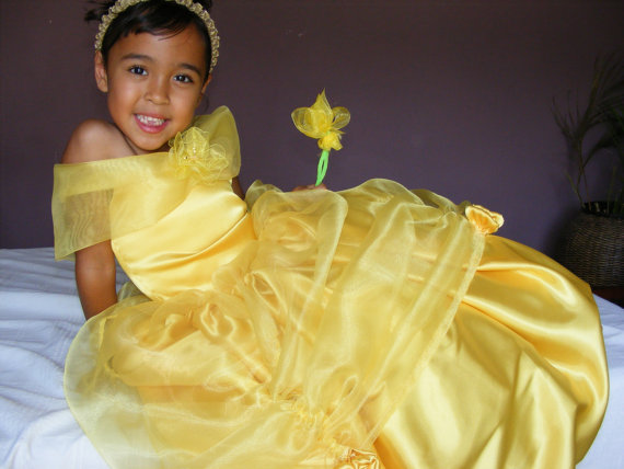 Love this satin and organza princess costume for Halloween!